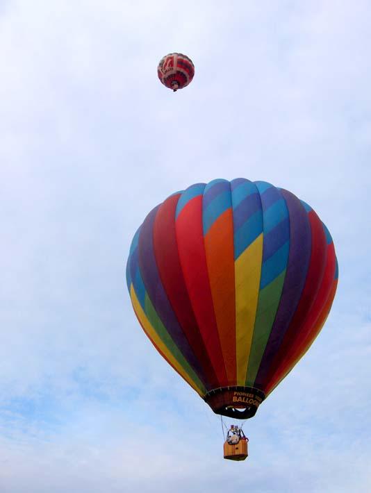 Brandie Newmon Hot Air Balloons stretched canvas art print