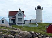 Brandie Newmon Nubble Lighthouse York Maine canvas prints