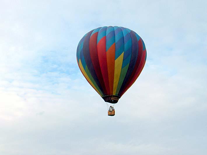 Brandie Newmon Hot Air Balloon stretched canvas art print