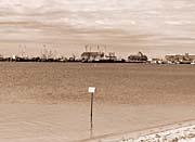 Brandie Newmon Provincetown Harbor, Massachusetts (Sepia Tone)