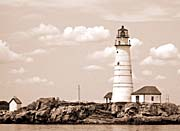 Brandie Newmon Boston Lighthouse, Massachusetts (Sepia Tone)