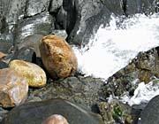 Brandie Newmon Ocean Waves Crashing into Rocks