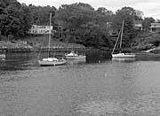 Brandie Newmon Fishing Boats in Ogunquit, Maine (Black and White)