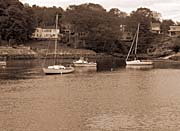 Brandie Newmon Fishing Boats in Ogunquit, Maine (Sepia Tone)