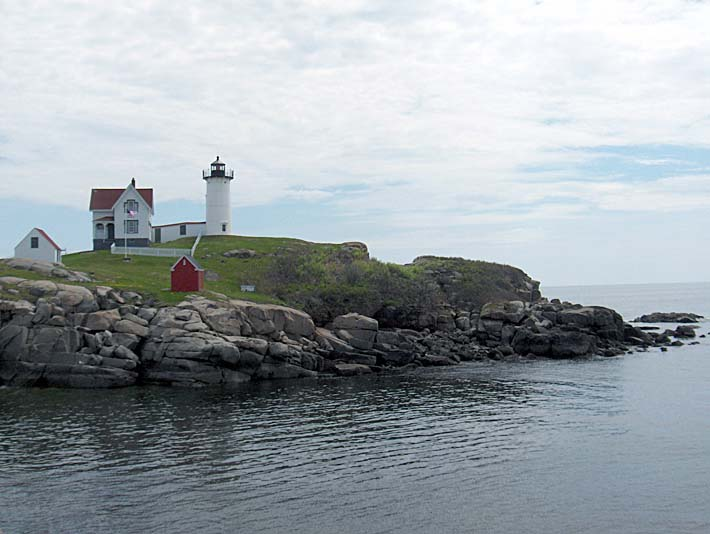 Brandie Newmon Cape Neddick Lighthouse, Maine stretched canvas art print