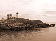Brandie Newmon Cape Neddick Lighthouse (Sepia Tone)