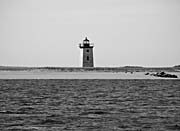 Brandie Newmon Wood End Lighthouse (Black and White)