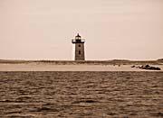 Brandie Newmon Wood End Lighthouse (Sepia Tone)