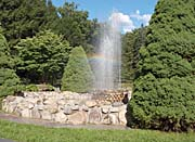Brandie Newmon Water Fountain with Rainbow