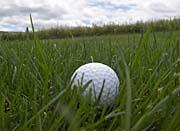 Brandie Newmon Golf Ball Close-Up