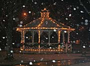 Kim O'Leary Photography Snowy Gazebo, Easthampton Massachusetts