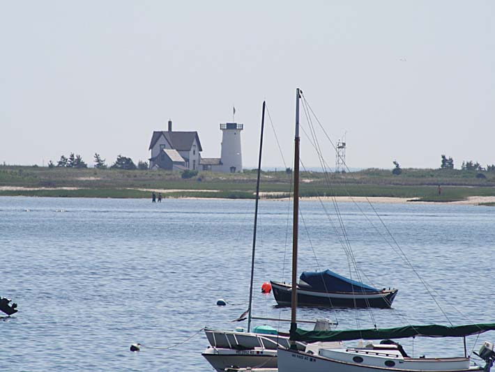 Kim O'Leary Photography Stage Harbor Lighthouse Cape Cod Massachusetts stretched canvas art print