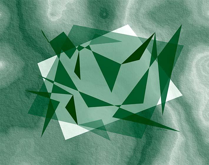 Lora Ashley Fragments Unite (Green) stretched canvas art print