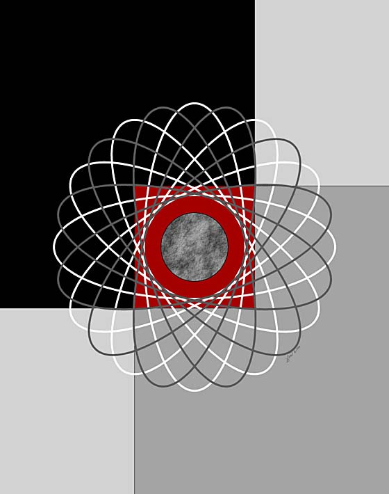 Lora Ashley Nucleus stretched canvas art print