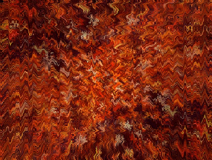 Lora Ashley Autumn Abstract Tapestry stretched canvas art print