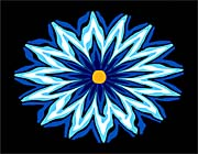 Lora Ashley Contemporary Blue Flower