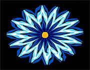 Lora Ashley Contemporary Blue Flower canvas prints