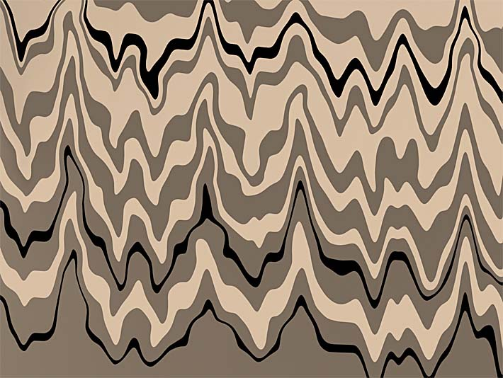 Lora Ashley Modern Black and Tan stretched canvas art print