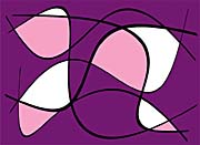 Lora Ashley Purple and Pink Abstract
