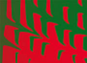 Lora Ashley Contemporary Red and Green