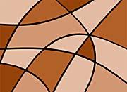 Lora Ashley Geometric Tan and Brown