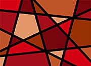 Lora Ashley Red Geometric
