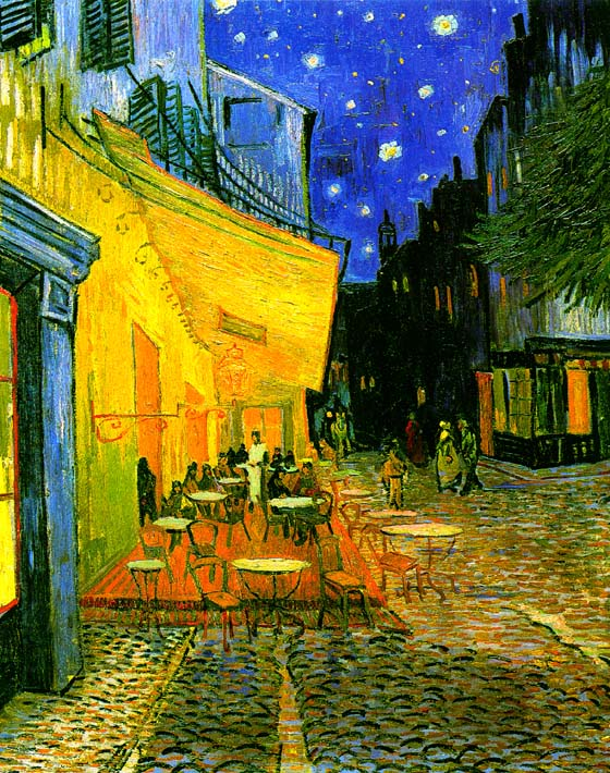 Vincent van Gogh Cafe Terrace at Night stretched canvas art print