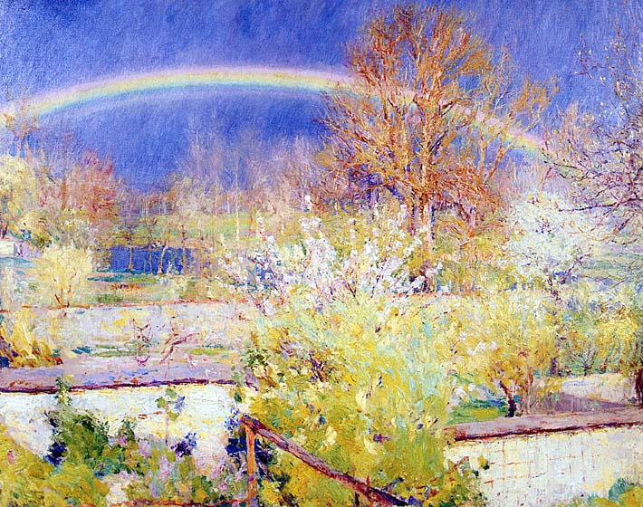 William Blair Bruce The Rainbow stretched canvas art print
