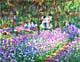 Claude Monet Prints on Canvas - The Artist's Garden at Giverny