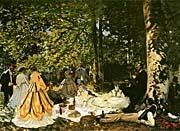 Claude Monet Le dejeuner sur l'herbe