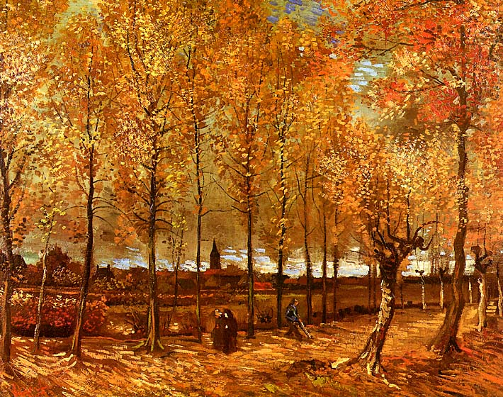 Vincent van Gogh Lane with Poplars stretched canvas art print