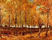 Vincent Van Gogh Lane with Poplars