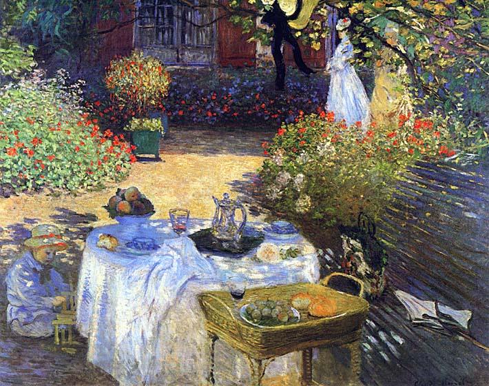 Claude Monet Le Dejeuner stretched canvas art print