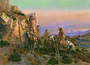 Charles Russell Trouble Hunters canvas prints
