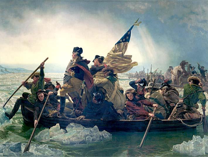 Emanuel Leutze Washington Crossing the Delaware stretched canvas art print