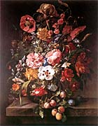 Rachel Ruysch Bouquet in Glass Vase