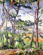 Paul Cezanne Landscape near Aix, the Plain of the Arc River