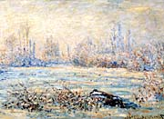 Claude Monet Frost Near Vetheuil canvas prints