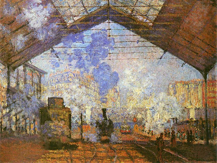 Claude Monet La gare Saint Lazare stretched canvas art print
