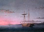 Fitz Hugh Lane Lumber Schooners At Evening On Penobscot Bay canvas prints
