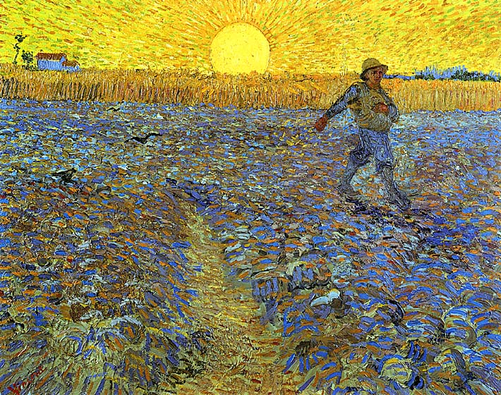Vincent van Gogh The Sower stretched canvas art print