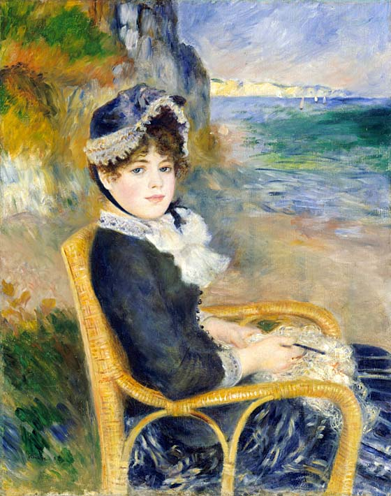 Pierre Auguste Renoir By the Seashore stretched canvas art print