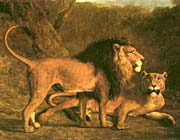 Jacques Laurent Agasse Two Lions, Life Size