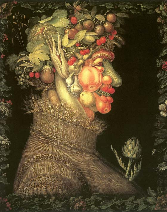 Giuseppe Arcimboldo Summer stretched canvas art print