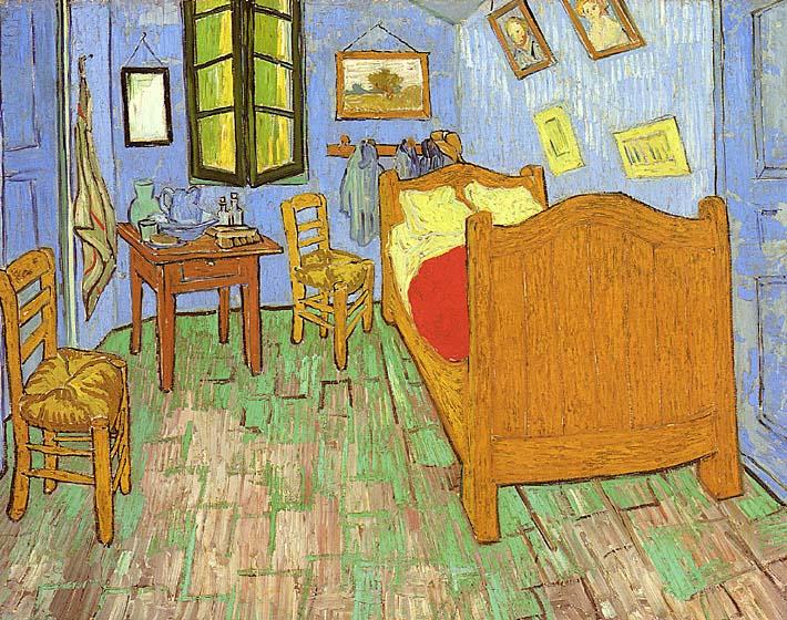 Vincent van Gogh Vincent's Bedroom at Arles stretched canvas art print