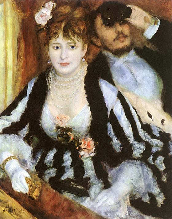 Pierre Auguste Renoir La Loge stretched canvas art print