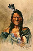 Charles Russell Indian Head canvas prints