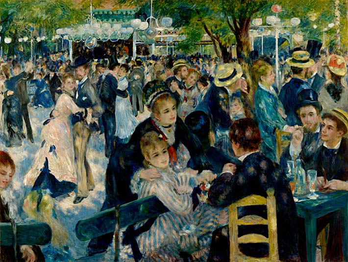 Pierre Auguste Renoir At the Moulin de la Galette stretched canvas art print