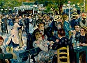 Pierre Auguste Renoir At the Moulin de la Galette