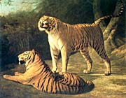 Jacques Laurent Agasse Two Tigers, Life Size